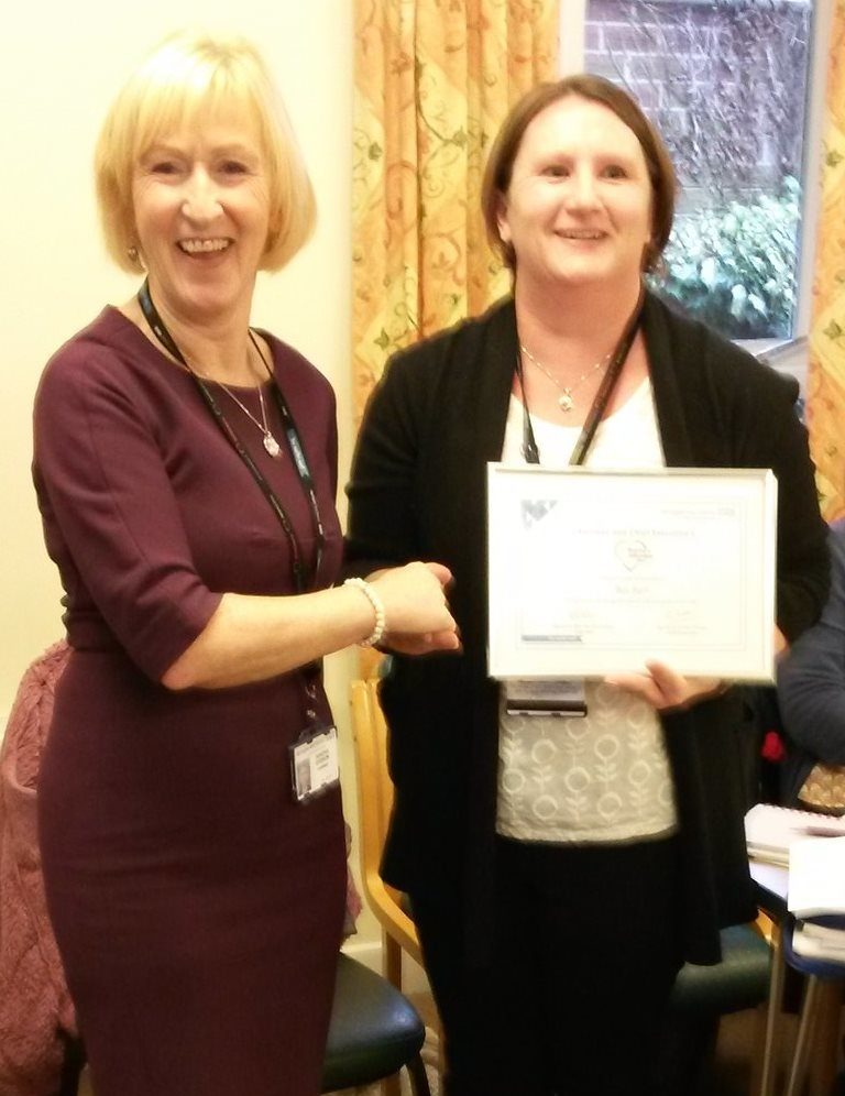 Bev Barf pictured with Mrs Sandra Dodson, Chairman