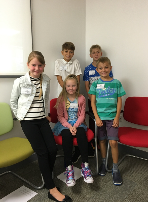 Back to front, left to right: Dominic Williamson (13, The Snaith School) Elliot Williamson (11, Hensall Primary) Lucy Franklin (10, Whitley and Eggborough Primary School), Lacy Lifsey (8, Kellington Primary School) Harvey Williamson (7, Hensall Primary School).
