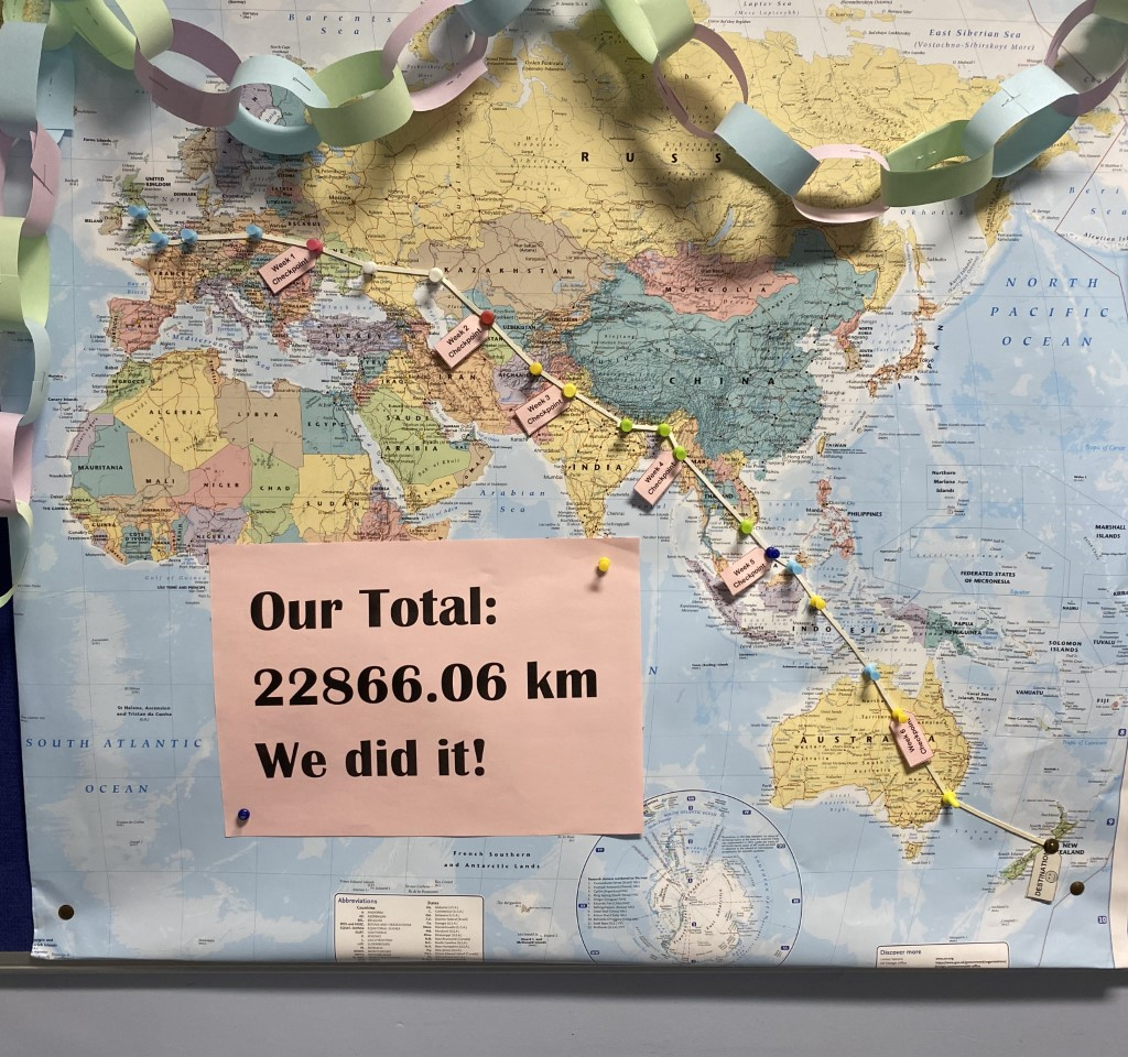 image showing total distance walked - 22866km